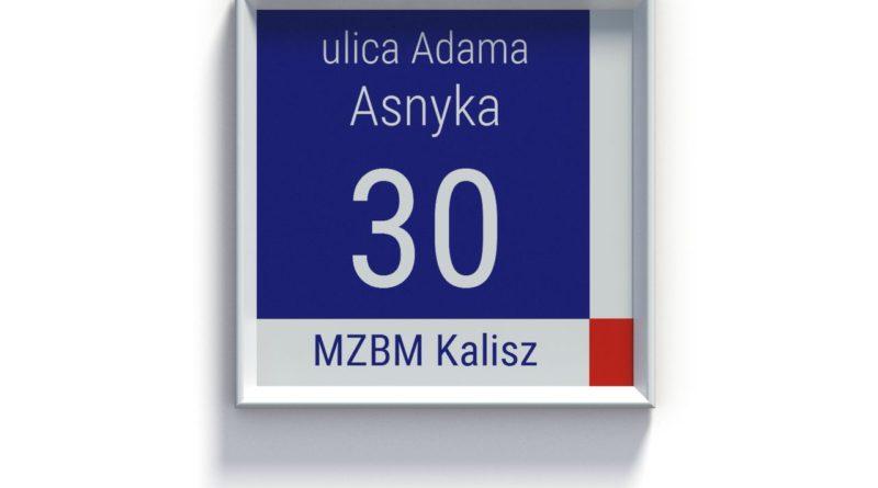 Tabliczka adresowa w Kaliszu poza obszarem Śródmieścia