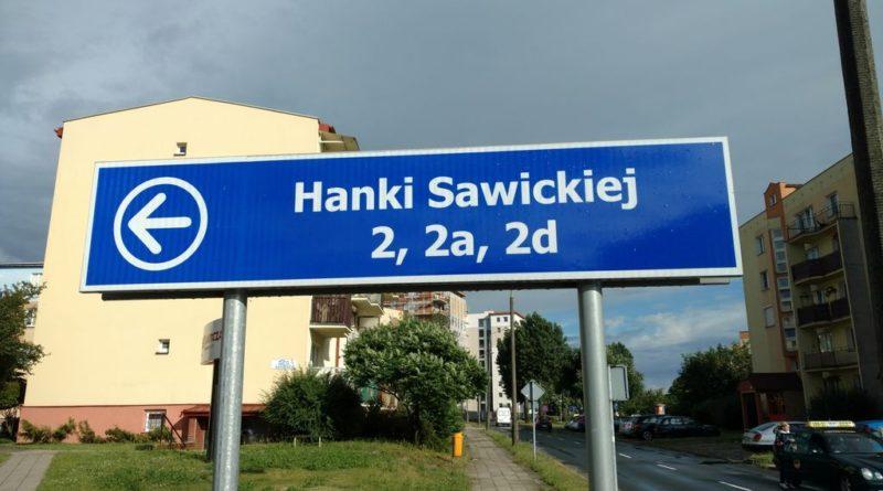 Zmiany nazw ulic - Kalisz ulica Hanki Sawickiej