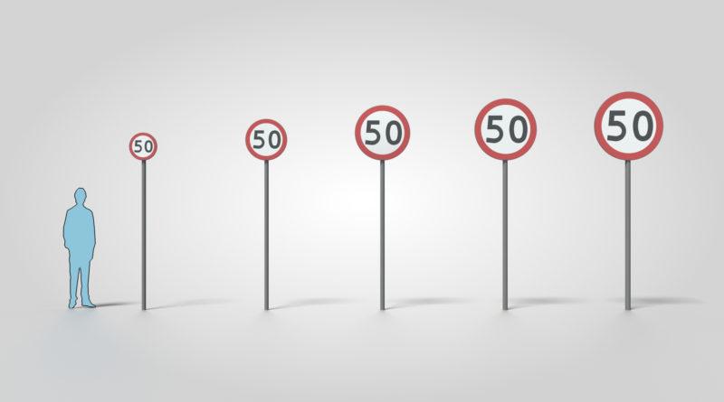 grupa wielkości znaku drogowego