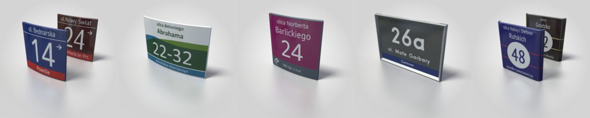 tabliczki adresowe w systemach informacji miejskiej